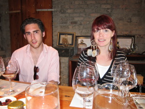 Chloe and Charles tasting at Bouchard Finlayson