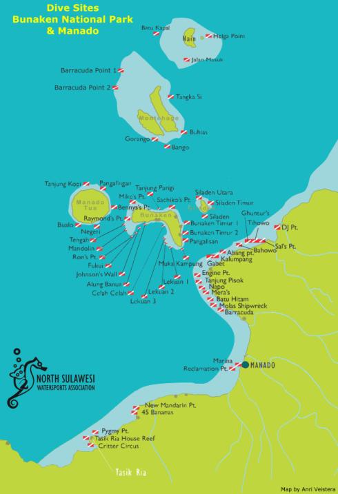 Dive Sites around Manado