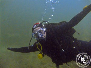 "I love scuba diving ""this much""!"
