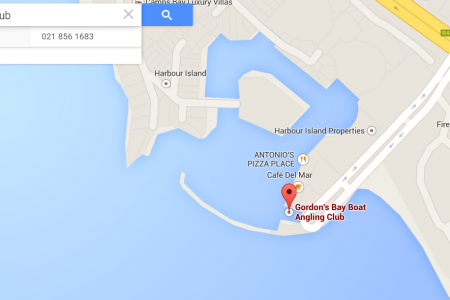 How to get to the Gordon's Bay Boat Angling Club